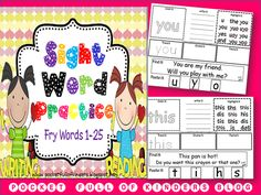 sight word and spelling ideas