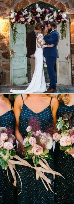 navy blue and burgundy wedding color ideas for 2018 #blueweding #weddingcolors #weddingideas / http://www.deerpearlflowers.com/navy-blue-wedding-color-combo-ideas/