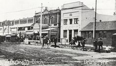 Victoria Road, Drummoyne circa This section, just north of Lyons Road, was at this time referred to as Post Office Square. [Canada Bay Connections - Drummoyne Council/City of Canada Bay] Five Dock, Historic Architecture, Historical Pictures, Post Office, Old Pictures, Sydney, Past, Street View, Canada