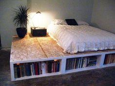 DIY bed. Freakin love this!!!!!