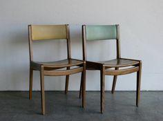 Mid Century Modern Gunlocke Side Chair Set of 2 by CoMod on Etsy, $149.00