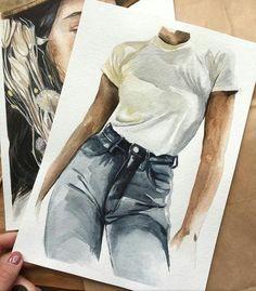 Schnell etwas skizzieren, aber sie hat ein bisschen - Kunst Quickly sketch something, but it has a bit - art Fashion Sketches, Art Sketches, Art Drawings, Drawing Fashion, Fashion Painting, Fashion Art, Fashion Design, Trendy Fashion, Fashion Quotes
