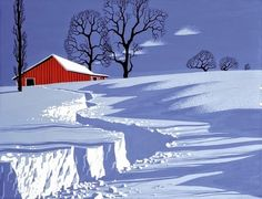 Oh, by the way...: BEAUTY: Winter Paintings--Eyvind Earle