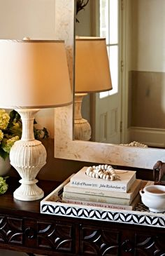 This stunning lamp is hand-carved from wood then beautifully finished to recreate the look of antique bone.