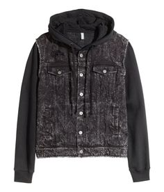 Jacket in washed denim with heavily distressed details. | H&M Divided Guys