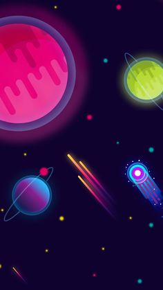 Space is cartoons Space Phone Wallpaper, Pop Art Wallpaper, Scenery Wallpaper, Cute Wallpaper Backgrounds, Pretty Wallpapers, Galaxy Wallpaper, Pattern Wallpaper, Art And Illustration, Graphic Design Illustration