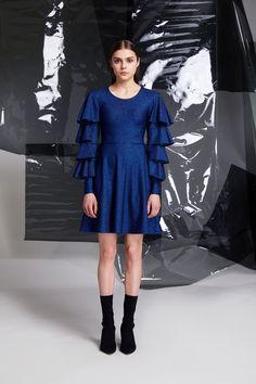 Photographer: Paavo Lehtonen MUAH: Piia Hiltunen Stylist: Shadi Razavi Model: Christina Shevelkova Red Moon, Light And Shadow, Blue Dresses, Ruffles, Blues, Cold Shoulder Dress, Feminine, Lady, Finland