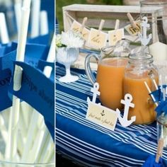 Drinks for a Nautical Party - Getting the details and decorations down