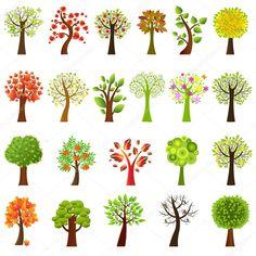 Collection d'arbres — Illustration