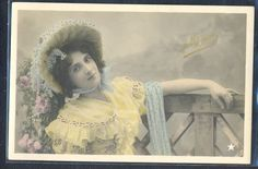 QK132 ARTIST STAGE STAR MIGNOT Large HAT Tinted PHOTO pc STEBBING