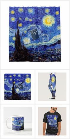 Starry Night Time Machine Zazzle Products Apparel, Cases & Skins, Wall Art, Home Décor, Bags, Stationary and More Available