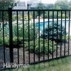 <p>Learn the pros, cons and relative costs of low-maintenance exterior fences made from vinyl, steel, aluminum and composite materials, along with tips for buying and installation.</p>  <p>(Photo courtesy of Delgard)</p>