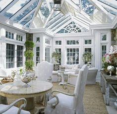 verglaster Wintergarten Essbereich