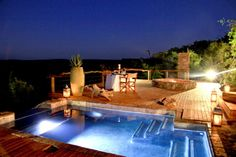 Book your stay at Bushwa Game Lodge in Lephalale, South Africa. Game Lodge, Private Games, Pool Decks, Stunning View, Lodges, South Africa, Patio, Pools, Outdoor Decor