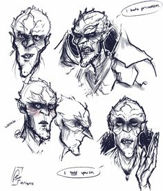 thealeksdemon: Did some Bog King practice doodles xP bottom right is Bog after carefully warning someone about what not to say to avoid getting wrecked by Marianne. They obviously didn't listen. I haven't drawn canon Bog so I wanted to give it a go