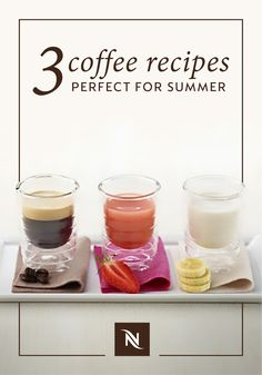 Need a little coffee inspiration? Check out these 3 coffee recipes that are perfect for summer. With flavors like hazelnut, banana, coconut milk, peach, and strawberry, this Fruity Coffee Trio is sure to please even the pickiest of coffee connoisseurs. If you're looking for something fun to do this weekend, try hosting a coffee tasting party for your friends to see which of these summer drinks is your favorite.