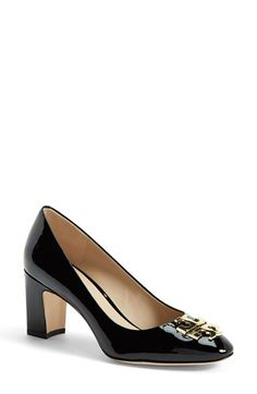 Tory Burch 'Raleigh' Patent Leather Pump (Women) available at #Nordstrom.  The beige is super good looking!