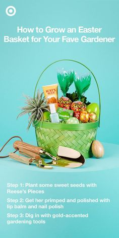 Spring is the time to get into the garden, get your hands dirty, and get things growing. Pack an Easter basket with everything your favorite gardener needs to start the season on the right foot, shovel and all.