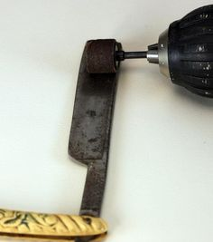 restore antique straight razor dremel remove rust