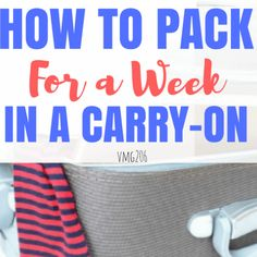How to Pack for a We