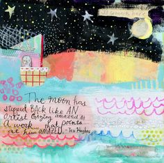 The+Artist's+Moon+mixed+media+art+print+by+Mindy+di+timssally,+$18.00