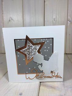 """Weihnachtskarte """"Kupfer und Grau"""" - Lieblingskarten"""