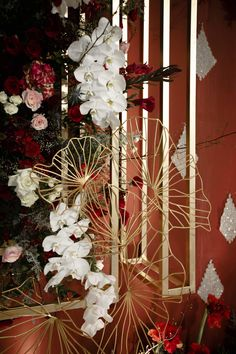 LA COUTURE—LA COUTURE Chinese Wedding Decor, Oriental Wedding, Chinese New Year Decorations, Wedding Theme Inspiration, Wedding Themes, Wedding Designs, Themed Weddings, Bridal Decorations, Flower Decorations