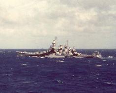 Battleships USS North Carolina off Saipan, Mariana Islands, Jun 1944. (US National Archives)