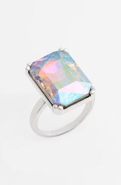 Love this oversized iridescent statement ring.