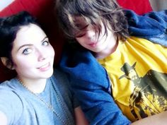 Grace Phipps (with little brother)