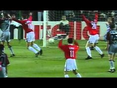 1999 : Manchester United score two goals in injury time to win Champions League
