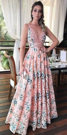 Customized Admirable Prom Dresses A-Line, A-Line Scoop Sleeveless Floor-Length Pink Floral Lace Prom Dress Evening Dresses, Prom Dresses, Formal Dresses, The Dress, Dress Skirt, Dress Lace, Dress Pants, Pretty Dresses, Beautiful Dresses