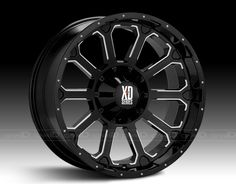 XD SERIES™ BOMB Wheels - Gloss Black with Milled Spokes Rims