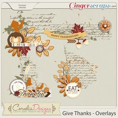 Give Thanks - Overlays by Cornelia Designs