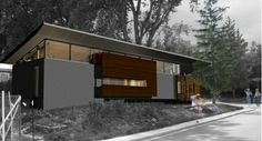 Modern Mobile Homes: Converting Trailers to Houses Modern Mobile Homes, Mobile Home Exteriors, Modular Homes, Prefab Homes, Modern Tiny House, Barn House Plans, Exterior Cladding, Remodeling Mobile Homes, Modern Exterior