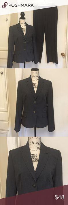 "Calvin Klein Pants Suit Sz 8 & 10 Calvin Klein Pants Suit Lined Gray ❣️ Pants : Sz 8 , Classic fit, 2 side pockets ❣️ Waist 34""  Rise 10""  Inseam 32"" ❣️Blazer: Sz 10 , Fully lined , shoulder pads, 2 front pockets ❣️ Pit to pit 19""  Length 24""  Waist 36"" ❣️❤️️ Calvin Klein Other"