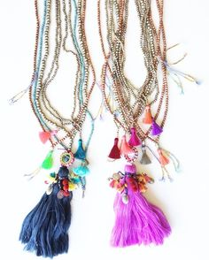 TenThings. BIRD of PARADISE. Tassel. Necklace.