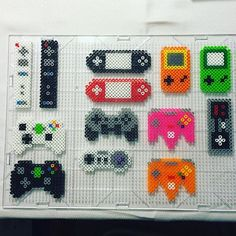 Gaming controllers perler beads by Jake Tastic