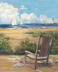 New 'By the Sea II' Carol Rowan Painting Print by Great Big Canvas Wall Art Decor. offers on top store Pictures To Paint, Art Pictures, Painting Prints, Fine Art Prints, Tole Painting, Canvas Wall Art, Canvas Prints, Big Canvas, Canvas Size