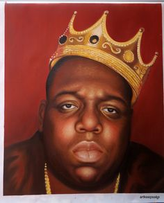 Notorious BIG Biggie Smalls hip hop art oil by artkeepsake on Etsy, $119.99