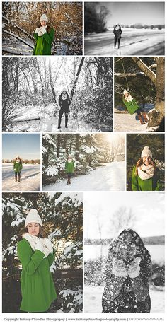 Senior girl in snow session | brittany chandler photography Emily's colors