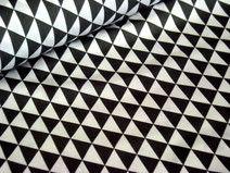Baumwollstoff schwarze Dreiecke/Triangels 7,90 / mm