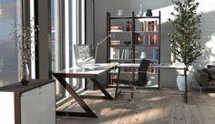 Designerskie biurko Soft Line dostępne w trzech wariantach kolorystycznych: wenge, biały i czarny.