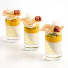 Lime, coconut and mango verrine