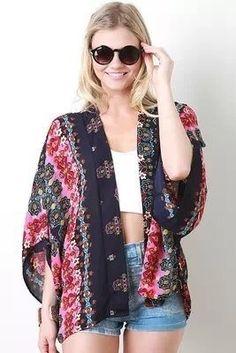 Kimono Estampado Vintage -Kimonos | DMS Boutique