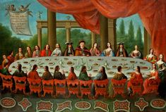 Banquet given by John III Sobieski to foreign diplomats and Polish dignitaries at Jaworów on 6 July 1684 by Frans Geffels, ca. National Museum in Wrocław. Great Names, National Museum, Byzantine, Italian Style, 6 July, Rugs On Carpet, Poland, Banquet, History