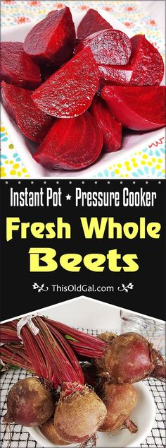 Beets to fill line, add cups cold water, and pressure cook for 11 minutes, that's my liking. In just a few minutes, you will discover that Making Instant Pot Fresh Whole Beets in your own kitchen has never been easier. Pressure Cooking Recipes, Slow Cooker Recipes, Crockpot Recipes, Instant Pot Veggies, Instant Pot Steamed Vegetables, Beet Recipes, Smoothie Recipes, Cooking Beets, Cooking Fish