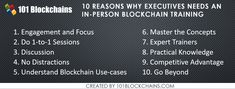 10 Reasons Why You Need An in-person Training For Blockchain Use Case, Blockchain Technology, Personal Finance, Knowledge, Train, Strollers, Facts