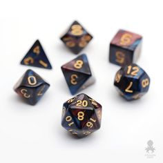 Regal Dragon RPG Dice Set | Dungeons & Dragons, DnD, RPG Games, Polyhedral Dice Set