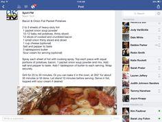 Bacon & onion foil packet potatoes